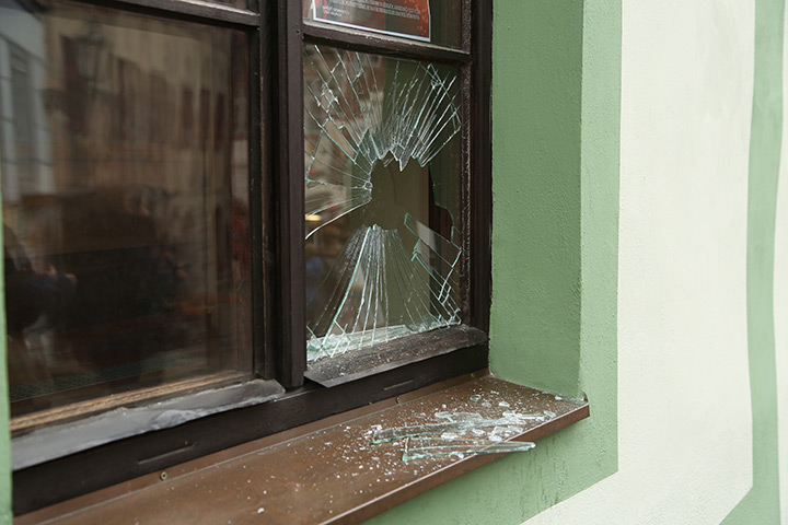 A2B Glass are able to board up broken windows while they are being repaired in Soho.
